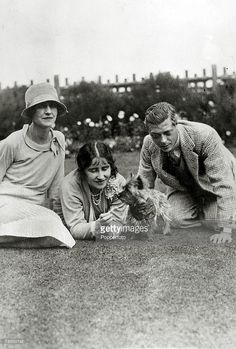circa 1930, HRH,The Duchess of York with a friend, left and HRH, Edward, Prince…