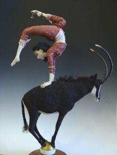 Sable - Needle felted wool on wire armature. Jennifer schermerhorn. Doll 2014. National Fiber Exhibition 2015