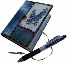 Mini Journal with Blue Delphinium Photo Cover by Sue Andrus