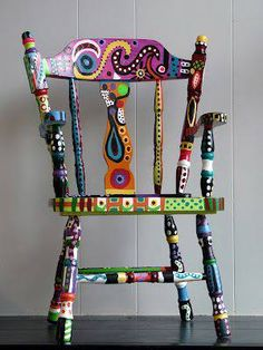 Love this painted chair!