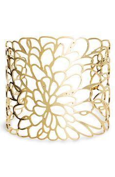 cuff Metal Bracelets, Jewelry Bracelets, Unique Jewelry, Jewelry Art, Gold Jewelry, Jewelry Accessories, Gold Bangles, Stone Jewelry, Nordstrom
