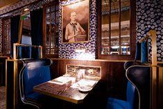 Bob Bob Ricard, 1 Upper James St, designed by David Collins London Hotels, London Restaurants, Top Interior Designers, Luxury Interior Design, Cafe Interior, Best Interior, Restaurant Design, Restaurant Bar, Bob Richards