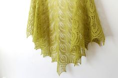Lime green lace shawl, Hand knitted shawl, Lime green wool shawl, Wool shawl, Lace shawl, Summer shawl, Boho shawl, Light green wrap