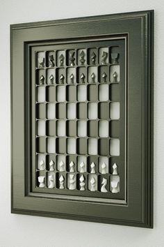wall mounted chess board - design 2