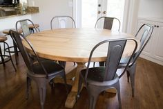 I had been eying the Restoration Hardware round farmhouse table  for some  time, but not the price tag. I knew I...
