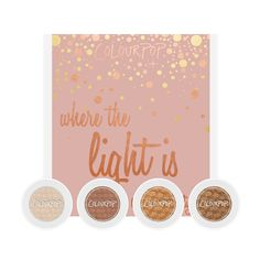 Kathleen Lights Where The Light Is includes Glow, Kathleenlights, Blaze, and Cornelious eye shadows