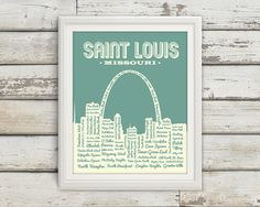 St. Louis Neighborhoods Poster St. Louis Arch by BentonParkPrints