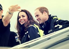 April 11, 2014 - William & Kate at Auckland harbour in New Zealand.