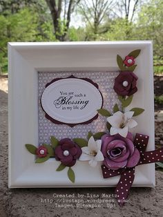 Stampin' Up!  Blessings From Heaven  Paper Flower Punch Art  Lisa Martz