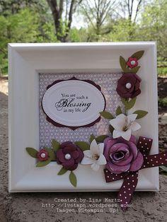 Stampin' Up!  Blessings From Heaven  Paper Flower Punch Art  Lisa Martz