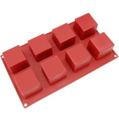 Freshware SL-133RD 8-Cavity Square Silicone Mold for Soap, Bread, Loaf, Muffin, Brownie, Cornbread, Cheesecake, Pudding, and More * See this great product.