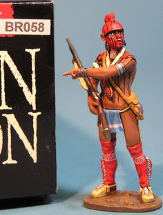 Revolutionary War British BR058 Woodland Indian Scout - Made by King and Country Military Miniatures and Models. Factory made, hand assembled, painted and boxed in a padded decorative box. Excellent gift for the enthusiast.