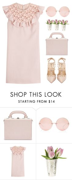 """""""Missing you...."""" by andrea99x ❤ liked on Polyvore featuring Bertoni, Linda Farrow, Giambattista Valli and Valentino"""