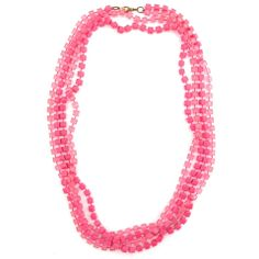 Vintage hot pink Necklace from Elva Fields