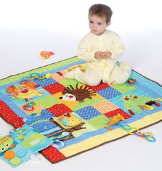 Interactive Play Quilt and Mats - Sew Sweet Chic by Susan Cousineau, M7104 http://mccallpattern.mccall.com/m7104-products-49299.php?page_id=96