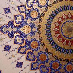imagine something this sumptuous in a garment! + paired with yellow/golden brocade Islamic Motifs, Islamic Art Pattern, Arabic Pattern, Pattern Art, Pattern Design, Arabesque, Oriental, Illumination Art, Persian Pattern