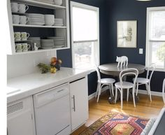 White Cabinets and Dark Walls