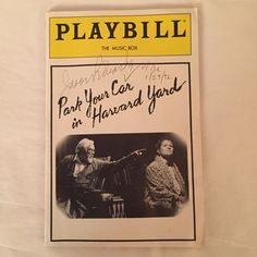 Jason Robards and Judith Ivey Playbill Park Your Car in Harvard Yard autographed by Jason Robards