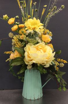 Classic Yellows in a Pitcher by Andrea