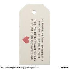 Bridesmaid Quote Gift Tag