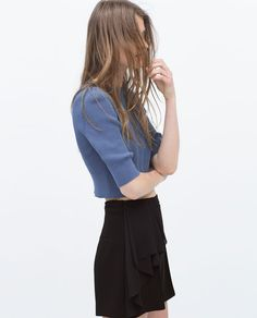 Image 3 of BERMUDA SHORTS WITH SIDE FRILL from Zara