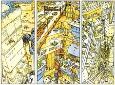 Moebius,one of the best comics designers.