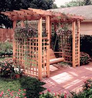 pergola with porch swing