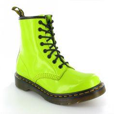 Lime Green Doc Martens