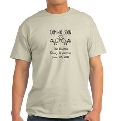 Coming Soon Engaged Love Birds T-Shirt on CafePress.com