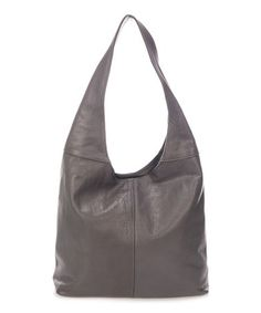 Loving this Dark Gray Crescent Leather Hobo on #zulily! #zulilyfinds