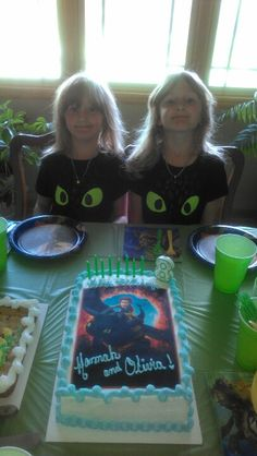 Toothless cake and.shirts