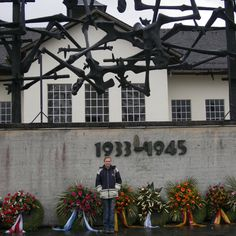 The Internationl Monument was designed by the Yugoslavian artist and concentration camp survivor, Nandor Glid.