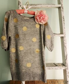 Update an old sweater with this clever tutorial.  AND 45 BEST Weekend Lifestyle DIY Tutorials EVER. GIFT DECOR, FURNITURE, JEWELRY, FOOD, WHIMSEY, PARTY from MrsPollyRogers.com