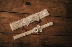 Wedding Garter Set / Bridal Garter Set / by VeilsAndHeadpieces