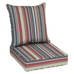 mainstays solid navy outdoor deep seating cushion set blue rh pinterest com
