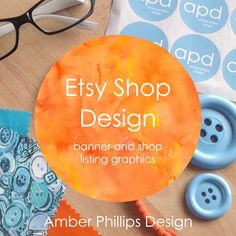 Etsy shop design package - banner and shop listing graphics. Custom Etsy shop / small business graphic design by AmberPhillipsDesign on Etsy https://www.etsy.com/listing/486090283/etsy-shop-design-package-banner-and-shop
