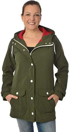 derbe Damen Jacke Peninsula Oliv rot (Olive red) Softshell mittellang Softshell, Rain Jacket, Windbreaker, Raincoat, Athletic, Fashion, Olives, Red, Jackets