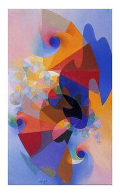 Conception Synchrony. MacDonald Wright. Hirschhorn Sculpture and Modern Art (Smithsonian, Washington DC). Eye watering colour.