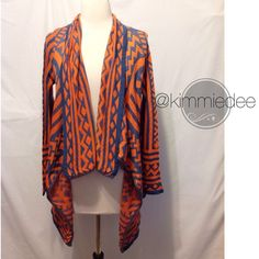 """Selling this """"Spring color AZTEC tribal open sweater cardigan"""" in my Poshmark closet! My username is: kimmiedee. #shopmycloset #poshmark #fashion #shopping #style #forsale #Boutique #Sweaters"""