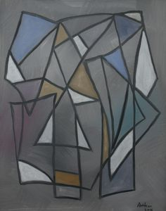 """Lynda Arthur-Angles- A 20"""" x 16"""" acrylic painting on a linen canvas"""