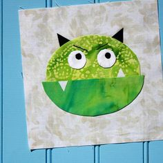 Name: 'Quilting : Monster Halloween Shirt Quilt Applique Halloween Applique, Halloween Quilts, Halloween Shirt, Quilt Block Patterns, Applique Patterns, Quilt Blocks, Applique Ideas, Quilting Projects, Quilting Designs