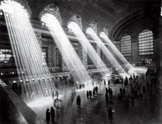 one of my most favorite photographs.  love the light streaming in to grand central terminal.