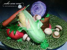 Vegetables Cake  by Cake Cera Cera www.CakeCeraCera.com