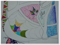 """#Proceso técnica a mano  #ART #texturas #colores #lapices  ( Quise ir más allá del trabajo de la ilustradora e imaginar a ese buho en su entorno, pero ya era demasiado! ... Aprendido...  """" menos es más"""" & """"No irse por las ramas"""" :)"""