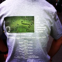 Concerts in the Parks t-shirts are on sale: look for sellers on the lawn! $20 #nypparks50