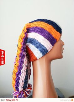 Sale -  Big Rasta Thumb Cable Beret Hat, chunky knit hat, knit slouchy beret, Fall Winter ... $18.70