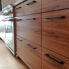 Flatsawn Walnut sequence from a pretty big Semihandmade IKEA kitchen in Canada last year...