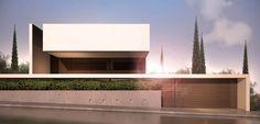 squared+: Private Residence in Penteli - Ashley Home Minimal Architecture, Modern Architecture House, Facade Architecture, Residential Architecture, Religious Architecture, Arch House, Facade House, Facade Design, Exterior Design