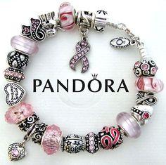 Pandora Bracelet *Breast Cancer Awareness Pink Ribbon Survivor Hope w/Barrel Opt | eBay