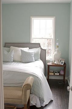 Bedroom Colors Blue Gray wall paint color is martha stewart schoolhouse slate. gorgeous